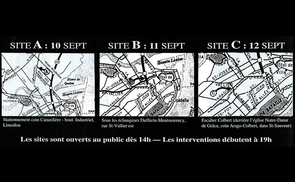 Plan des sites d'interventions